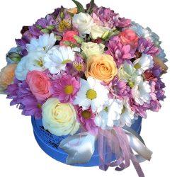 Шляпная коробка «Ангелочек» микс цветов