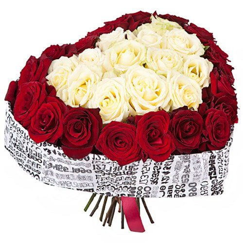 51 роза сердце товар