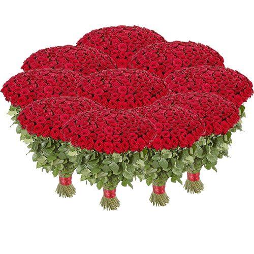 букет 1001 красная роза